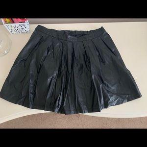 Forever 21 Girls' Black Leather Skirt